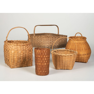 Five Split and Woven Baskets