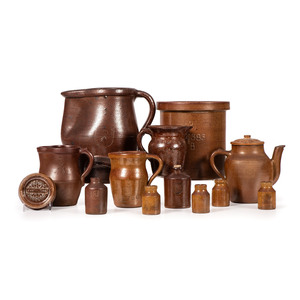 Thirteen Pieces of Maurice Knight Stoneware