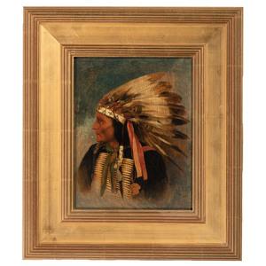 A Portrait of a Native American Figure