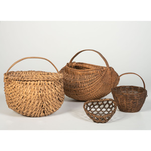 Four Split and Woven Baskets