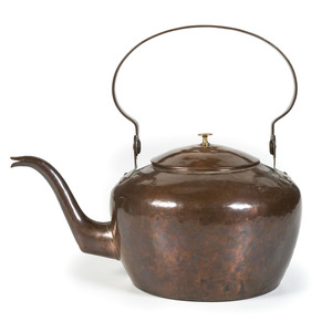 A Rare Pittsburgh Copper Goose Neck Tea Kettle