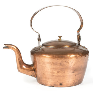 A Pittsburgh Copper Goose Neck Tea Kettle