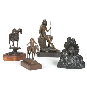 Four Signed Western Bronzes
