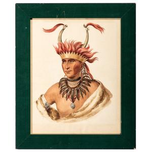 A Watercolor Portrait of Oto Chief L'Ietan