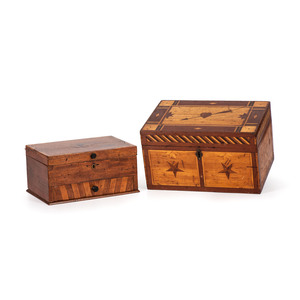 A Star and Pierced-Heart Inlaid Jewelry Box