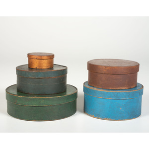 Five Round Pantry Boxes