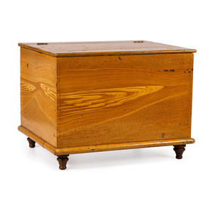 An Amish Yellow Grain-Painted Poplar Diminutive Blanket Chest