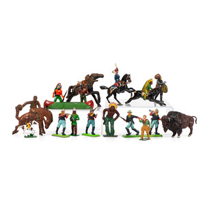 A Large Group of Western-Themed Toy Figurines