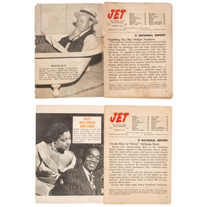 Jet: The Weekly Negro News Magazine [Vol. 1, Number 2]. Chicago: Johnson Publishing Company, 8 November 1951.