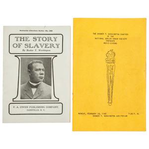 WASHINGTON, Booker T. (1856-1915). The Story of Slavery. Dansville, NY: F.A. Owen Publishing Company, 1913.