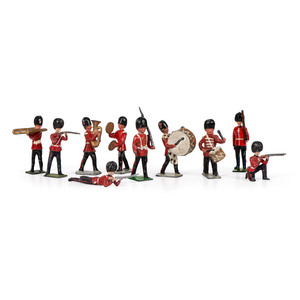 A Group of Buckingham Cast Metal Toy Figurines