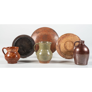 A Group of Ceramic Tableware, Including Redware