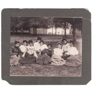 Talladega College Coeds Oversize Photograph, circa 1905