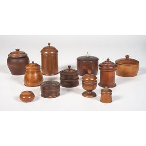 Eleven Peaseware Lidded Jars