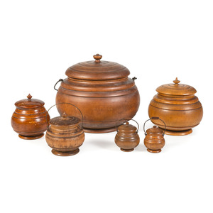 Six Peaseware Spice Canisters