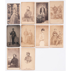 Civil War CDV Collection of Union Officers and Soldiers, Incl. General George Sykes and Colonel John O'Mahoney
