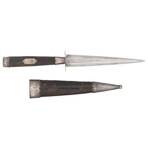 Rare and Fine Spanish and American Silver Mounted Dagger