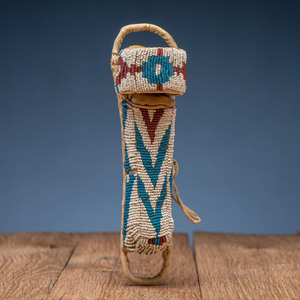 Apache Beaded Toy Doll Cradle, with Doll