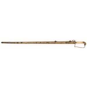 18th Century Eagle Head Pommell Saber with Scabbard
