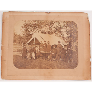 Civil War Doctors of the 5th Army Corps Under General Meade, Photograph by Wenderoth, Taylor, and Brown