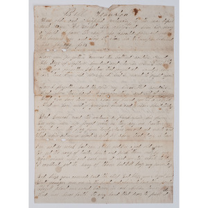 War of 1812 Veteran's Handwritten Patriotic Poem,