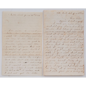 Four Civil War-Date Letters from Private Edward H. Pritchard, OH 25th Light Artillery, Brother to 4th MI Cavalryman Benjamin D. Pritchard