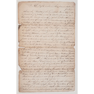 Connecticut Western Reserve Deed, 1799, Signed by Several Prominent Figures incl. Revolutionary War General Roger Newberry
