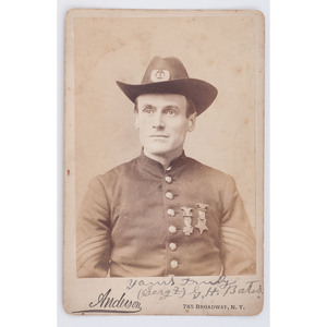 Sergeant Gilbert Bates, 1st Wisconsin Heavy Artillery, Autographed Cabinet Card of the