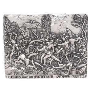 Henryk Winograd, Sterling Silver Repousse Panels of Shiloh and Antietam