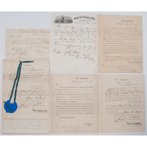 Secretary of War Edwin M. Stanton, Signed and Stamped Documents Re. Civil War Soldiers, Incl. Private Peter McGue, 2nd NH, Discharged for Minority