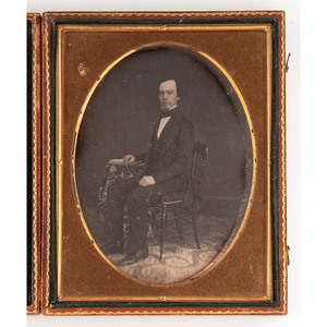 Daguerreotypes of Studious Individuals Posed with Books, Including Phelps's Travellers' Guide Through the United States and One Half Plate Example, Lot of 16