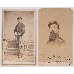 Signed CDV of Brevet Brigadier General Charles P. Herring, 118th PA Infantry, WIA Fredericksburg and Dabney's Mills, Plus