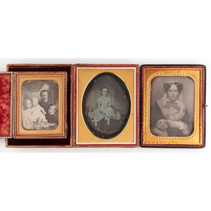 Collection of Daguerreotypes After Artworks, Including Half Plate Daguerreotype Copy of a Painting by Moses B. Russell, Lot of 3.