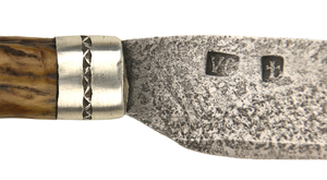Woodbury School Belt Knife & Sheath by Verlin Cossel, Sold to Benefit the Contemporary Longrifle Foundation