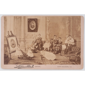 The Late CSA General John Bell Hood's Orphaned Family, Cabinet Card by Lilienthal, New Orleans