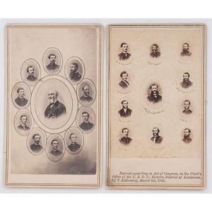 Two Composite CDVs of Union Generals Francis J. Herron, CMOH, and A.J. Smith with their Staffs