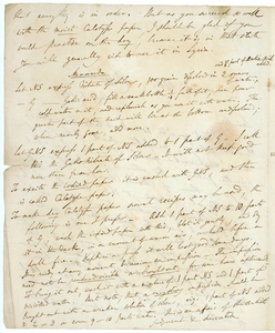 WILLIAM HENRY FOX TALBOT LETTER RE: CAMERA OBSCURA
