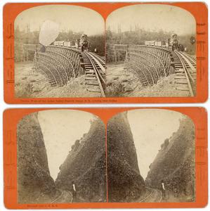 RAILROADS & YOSEMITE 7 STEREOVIEWS BY J.J. REILLY