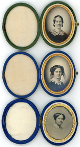 7 OVAL DAGUERREOTYPES IN VELVET CASES