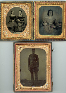 CASED TINTYPES & PORTRAITS ON MILK GLASS