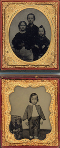 NINE AMBROTYPES OF CHILDREN
