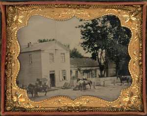TINTYPES OF  BOLLES STORE IN BURLINGTON INDIANA