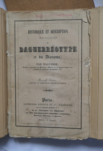 HISTORY AND DESCRIPTION OF THE DAGUERREOTYPE, 1839