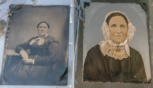 16 HALF & FULL PLATE TINTYPES MOSTLY HAND PAINTED