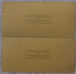 8 EARLY STEREOVIEWS OF WORCHESTER, MASSACHUSETTS