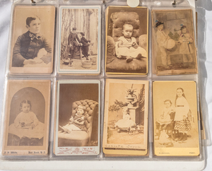 LARGE GROUP OF CARTE DE VISITES