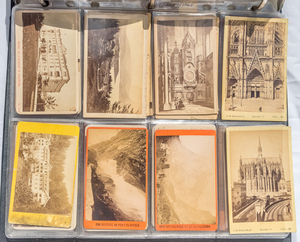 LARGE GROUP OF CARTE DE VISITES ALL OUTDOORS