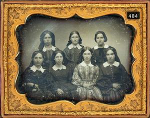 HALF PLATE DAGUERREOTYPE OF SEVEN LADIES