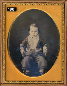 BOY WITH A RED & BLUE JACKET DAGUERREOTYPE