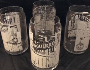 HANDSOME SET OF 4 DAGUERREOTYPE GLASSES